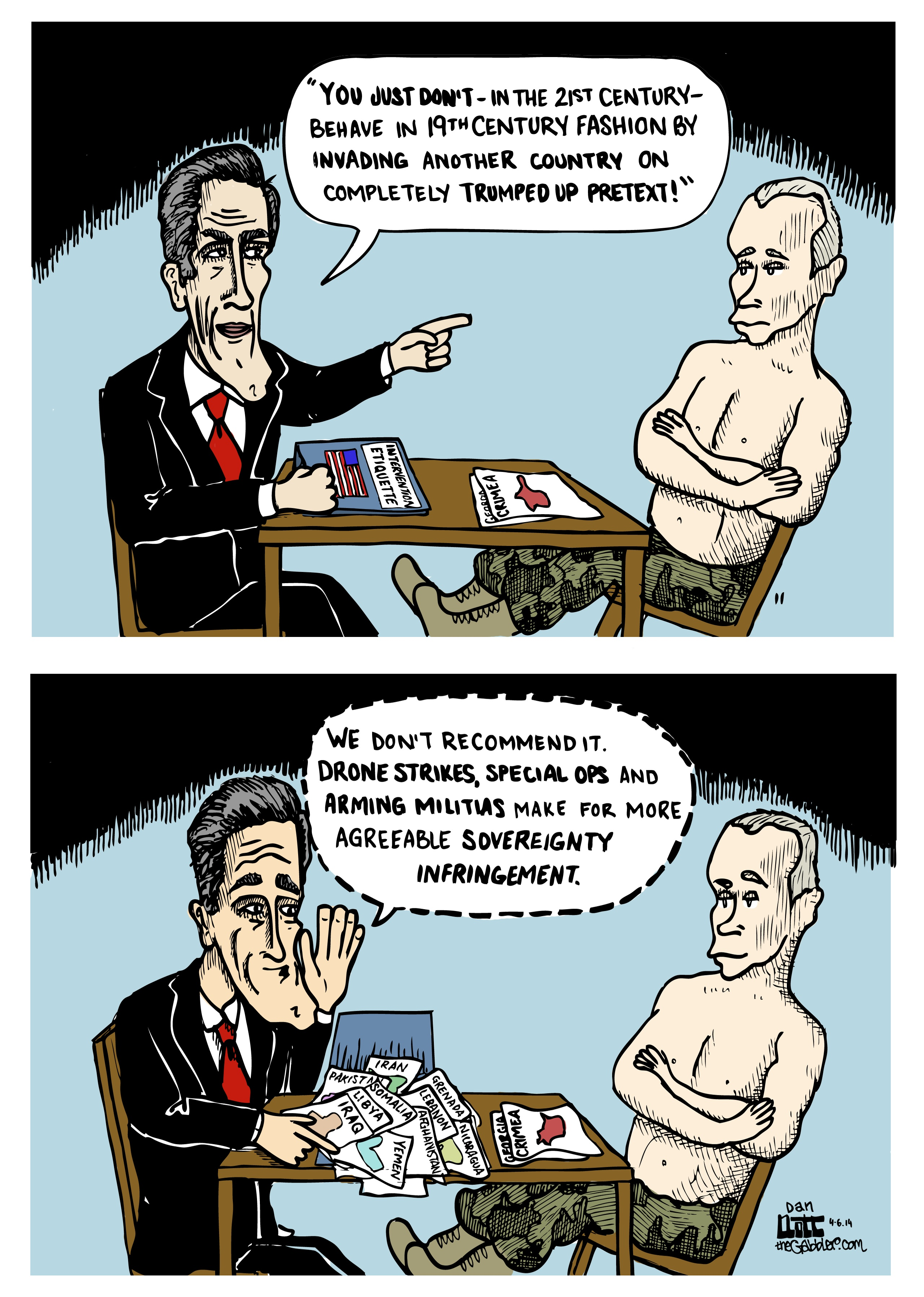 Kerry Putin Ukraine Cartoon